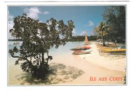Mauritius - Ile Maurice - Ile Aux Cerfs Beach - Nice Butterfly Stamps - Mauritius