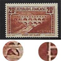 "FR YT 262 Type IIB "" Pont Du Gard 20F. Chaudron "" 1929 Neuf* - France"