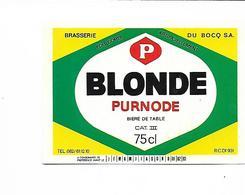 ETIQUETTE BIERE BRASSERIE DU BOCQ / PURNODE - Beer