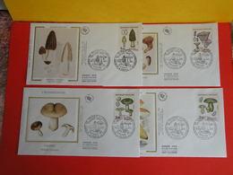 Nature De France Les Champignons < Paris (75) > 5.9.1987 < Lot 4 FDC 1er Jour > Coté 10€ - FDC