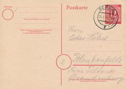 DEMMIN - 1946 , Ganzsache Nach Blankenfelde - Zone AAS