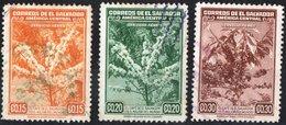 EL SALVADOR, POSTA AEREA, AIRMAIL, FLORA, PIANTE, CAFFE, 1940, USATI,  Michel 580,581,583   Scott C73,C74,C76 - El Salvador
