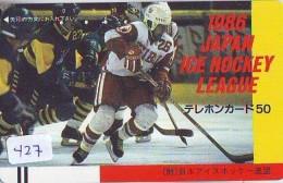 Télécarte Japon * Frontbar 110-11163 * Sport * EIS * ICE HOCKEY Sur Glace (427) Japan Phonecard * TK * SCHAATSEN SKATING - Deportes