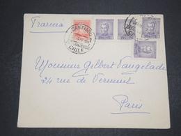 CHILI - Enveloppe De Santiago Pour La France En 1938 - L 16191 - Chili