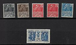 """FR YT 270 à 274 + 271a """" Expo Coloniale """" 1930-31 Neuf** - France"""