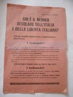 WW2 PARTIGIANI COMUNISMO VOLANTINO DI PROPAGANDA CHI è IL NEMICO SECOLARE DELL'ITALIA - Non Classificati