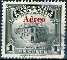 EL SALVADOR, POSTA AEREA, AIRMAIL, MONUMENTI, 1945, FRANCOBOLLI USATI,  Scott C96 - El Salvador