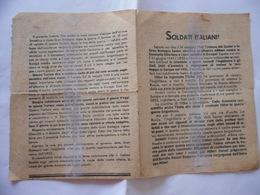 WW2 PARTIGIANI COMUNISMO VOLANTINO DI PROPAGANDA SOLDATI ITALIANI - Militari