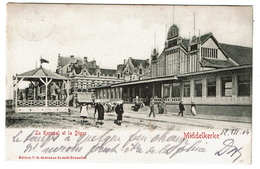 Middelkerke -Le Kursaal Et La Digue - 1904 - Edit. V.G., Bruxelles  -  2 Scans - Middelkerke