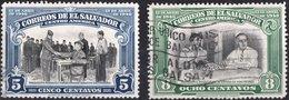 EL SALVADOR, COMMEMORATIVO, ROOSEVELT, 1948, FRANCOBOLLI USATI,  Michel 638,639   Scott 606,607 - El Salvador