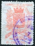 EL SALVADOR, POSTA AEREA, AIRMAIL, STEMMI, COAT OF ARMS, COMM., SAN SALVADOR, 1957, USATI,  Michel 792    Scott C179 - El Salvador