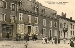CPA - VERRERIES De PORTIEUX (88) - Aspect Du Café-Restaurant Des Vosges En 1913 - France