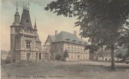 TRAZEGNIES , Le Chateau , Vue Intérieur ,COLORISEE - Courcelles