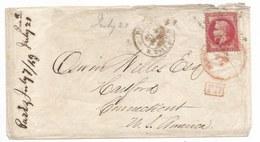 """- Lettre - SEINE - PARIS - Etoile N°22 R.TAITBOUT S/N°32 + Càd T.17 + """"PD"""" Rouge - 1869 - 1863-1870 Napoléon III Con Laureles"""