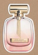 CC Carte Parfumée 'NINA RICCI 'L'EXTASE' Perfume REPLICA Card JAPAN - Modern (from 1961)