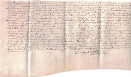 PARCHEMIN PEAU - CONTRAT DU 3 AVRIL 1645 - REGNE DE LOUIS XIV - SUPERBE ETAT - UN PEU TROP GRAND POUR LE SCAN. - Documentos Antiguos