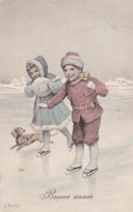 Dackel Teckel Dachshund  Chien  Enfant K.Feiertag  Cpa. Old Dog Postcard 1908 - Chiens