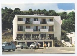 11 - LA FRANQUI PLAGE --HOTEL DE LA PLAGE VOITURES DS -2CV    -RECTO/VERSO- B6 - Autres Communes