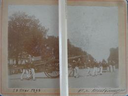 POMPIERS PHOTO POMPIER LA GRANDE ECHELLE DEFILE PRESENTATION 28 MAI 1893 - Métiers