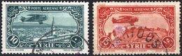 SIRIA, MANDATO FRANCESE, FRENCH TERRITORIES, POSTA AEREA, AIRMAIL, 1931, USATI YT PA55,PA56    Scott C52,C53 - Luftpost