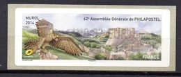 Vignette LISA  // 62e Assemblée Philapostel // Murol 2014 - 2010-... Illustrated Franking Labels