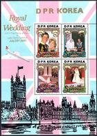 North Korea 1981 Royal Wedding (2nd Issue) Specimen Sheetlet Unmounted Mint. - Korea, North