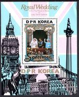 North Korea 1981 Royal Wedding  (2nd Issue) Specimen Souvenir Sheet Unmounted Mint. - Korea, North
