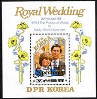 North Korea 1981 Royal Wedding  (1st Issue) Specimen Souvenir Sheet Unmounted Mint. - Korea, North