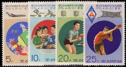 North Korea 1976 Table Tennis Unmounted Mint. - Korea, North