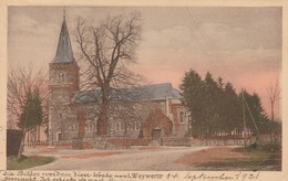 Weywertz , Wevercé  (Butgenbach ),L'église ,colorisée - Bütgenbach