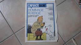 TINTIN DIRECT SOIR SUPPLEMENT POUR LES 100 ANS DE   HERGE - Tintin