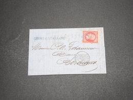 FRANCE - Lettre De Coutras Pour Bordeaux En 18662 , Affranchissement Napoléon 80c - L 16223 - Postmark Collection (Covers)