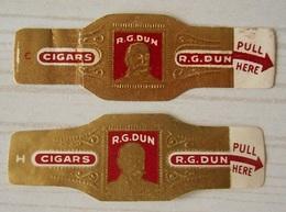 X17 Bague Bagues Cigare Cigares  R G Dun  2 Pièce(s) - Cigar Bands