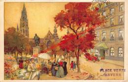 Place Verte - Groenplaats - Hotel De L'Europe - 1911 - Antwerpen - Antwerpen
