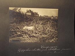 17/3/17,à Compiègne, ZEPPELIN ABATTU Par L'artillerie Français - Photo 16,5x12cm - Guerre, Militaire