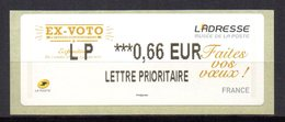 Vignette LISA  // Ex Voto Faites Vos Voeux  //  2014 - 2010-... Illustrated Franking Labels