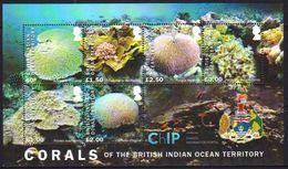 British Indian Ocean Territory 2017 Marine Life Corals MS MNH - Britisches Territorium Im Indischen Ozean