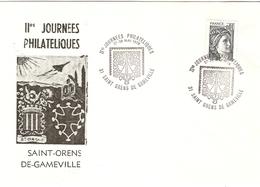 France  1978 - IIème Journée Philatélique à Saint-Orens-de-Gameville - Marcophilie - Sabine De Gandon 1962 - 2 Scans - Francia