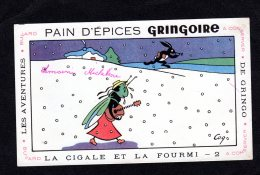 Pain D'épices Gringoire La Cigale Et La Fourmi Lot 1302 - Gingerbread