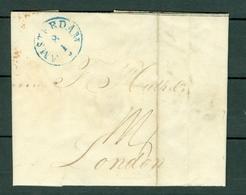 Brief 1841 Van Amsterdam Naar London (4 Scans) - ...-1852 Préphilatélie