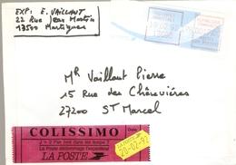 France  1992 - Colissimo De Martigues Joncquières à Saint-Marcel - Vignette EMA 17 F - Covers & Documents