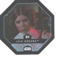 JETON LECLERC STAR WARS   N° 01 LEIA ORGANA - Power Of The Force