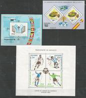 3 Pcs HUNGARY - MONACO - MNH - Sport - Soccer - World Cup - World Cup