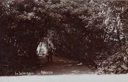 ABBAZIA-IM LORBERHAIM IN ABBAZIA-CARTOLINA VERA FOTOGRAFIA ANNO 1900-1904 - Kroatien