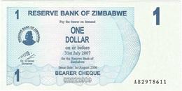 Zimbabue - Zimbabwe 1 Dollar 01-08-2006 Pick 37 UNC - Zimbabwe
