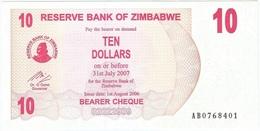 Zimbabue - Zimbabwe 10 Dollars 01-08-2006 Pick 39 UNC - Zimbabwe