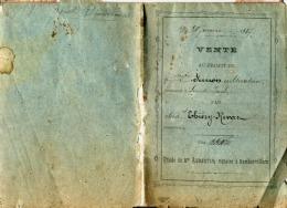 ACTE DE VENTE DU 20 JANVIER 1887 SUR PAPIER PARCHEMIN AU PROFIT DE Mr SIMON SAINTE BARBE VOSGES  DOCUMENT DE 4 PAGES - Manuscripts