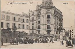 CPA 75 PARIS XX Rue Pelleport à L'avenue Gambetta Vers La Rue Du Surmelin Série CP N° 328 - District 20