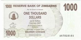 Zimbabue - Zimbabwe 1.000 Dollars 01-08-2006 Pick 44 UNC - Zimbabwe