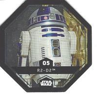 JETON LECLERC STAR WARS   N° 05 R2-D2  (brillante) - Power Of The Force